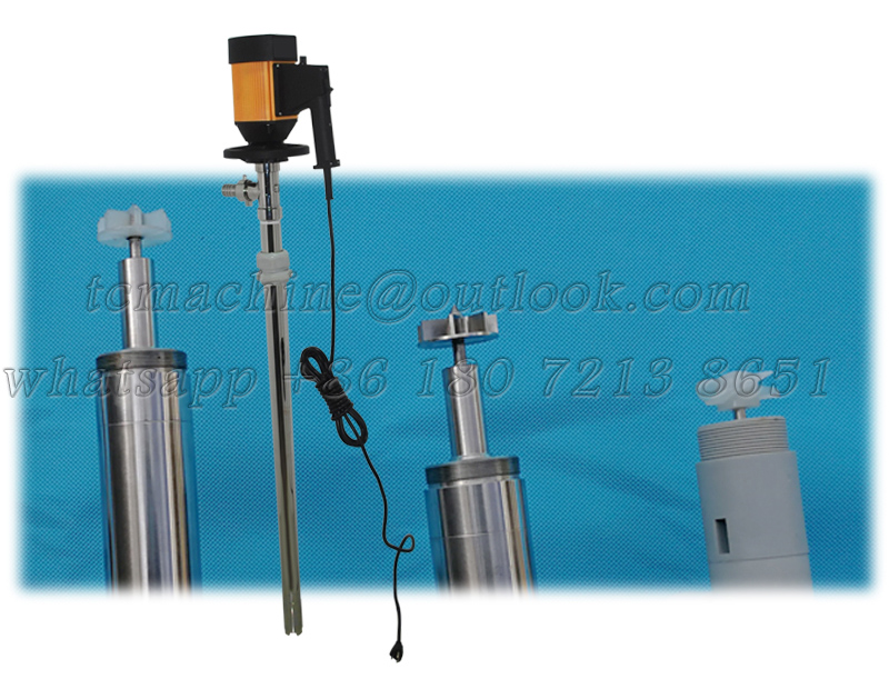 130L/min barrel pump for low viscosity liquid with PPHT / PVDF / stainless steel tube