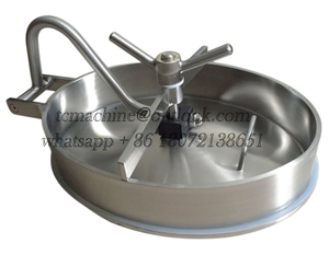 Oval Manhole Cover Elliptical Manway Inwards Opening for Pressure Vessels